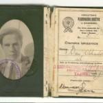 Aleksandar Ban, plan.iskaznica, 1926.g.